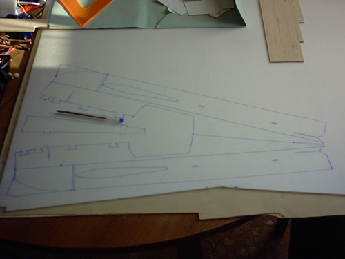 Riproduzione della fusoliera sul Depron
