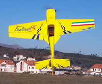Davide Pasquali in volo